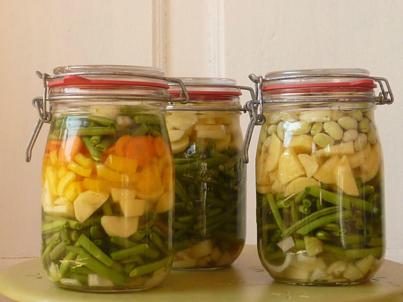Conserver vos l gumes en bocaux permaculture - Comment conserver pomme de terre ...