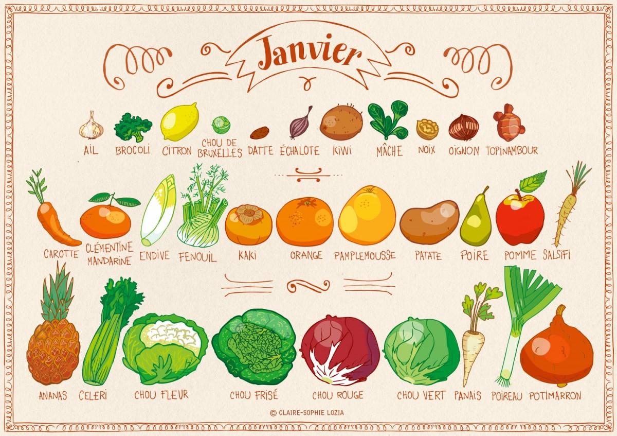 Miam miam janvier fruits et l gumes de saison permaculture - Legumes de saison decembre ...