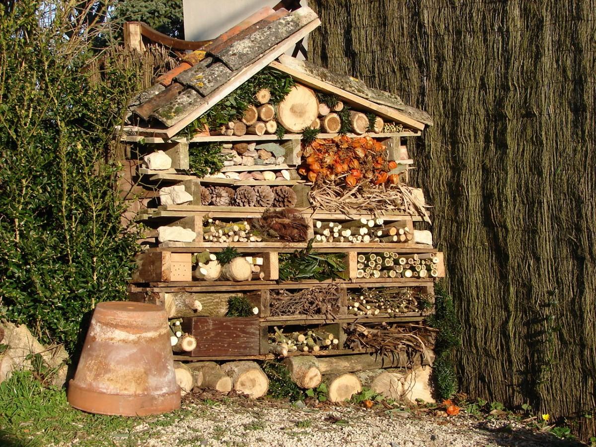Hotel insectes permaculture - Fabriquer une maison a insecte ...