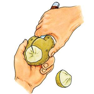 coupe de pomme de terre