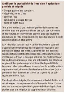 Gestion durable de la terrre -L'efficience de l'eau (9)