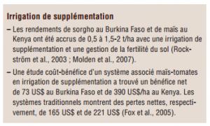 Gestion durable de la terrre -L'efficience de l'eau (1)