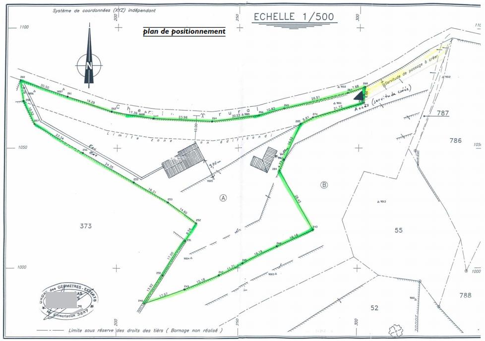 plan maison bornage