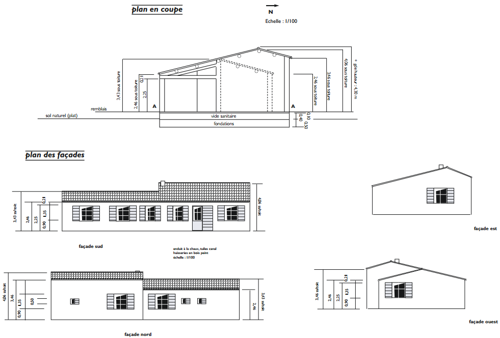 Dossier ete auto construction d 39 une maison partie 1 6 for Plan maison coupe