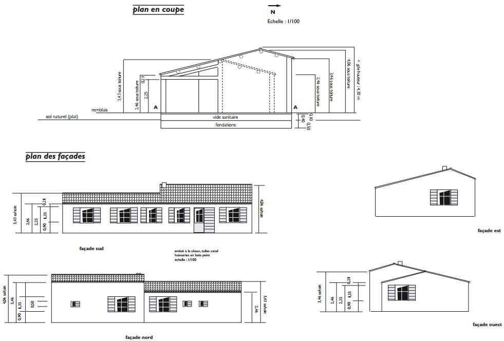Dossier ete auto construction d une maison partie 1 6 - Plan de coupe maison ...