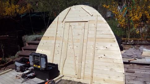 Réalisation de la cabane de jardin