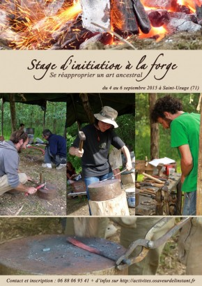 Stage d'Initiation à la forge - se réapproprier un art ancestral - du 4 au 6 septembre 2015