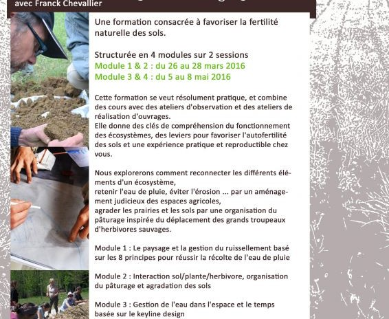 Permaculture appliquée : Formation à l'aménagement de paysages fertiles