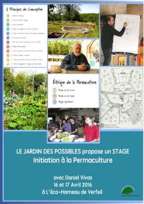 Initiation à la Permaculture le 16 et 17 Avril à l'Eco-hameau de Verfeil