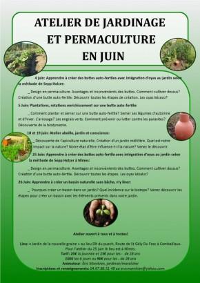 Atelier permaculture de juin