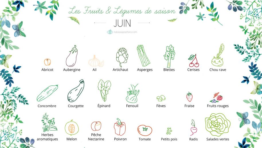 fruits et l gumes de saison juin permaculture. Black Bedroom Furniture Sets. Home Design Ideas