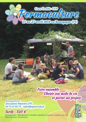 Cours Certifié de Permaculture du 15 au 27 avril en Bourgogne