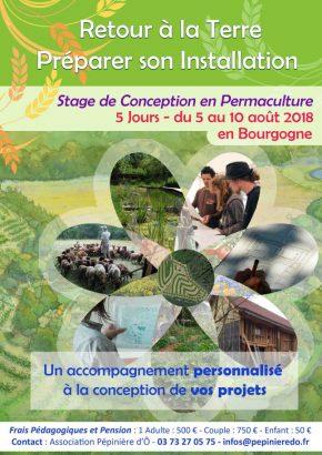 Stage Personnalisé de Conception en Permaculture  Retour à la Terre - Préparer son Installation du 5 au 10 août